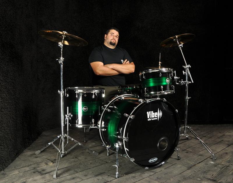 Fabio Foschi drummer endorser Vibe Drums
