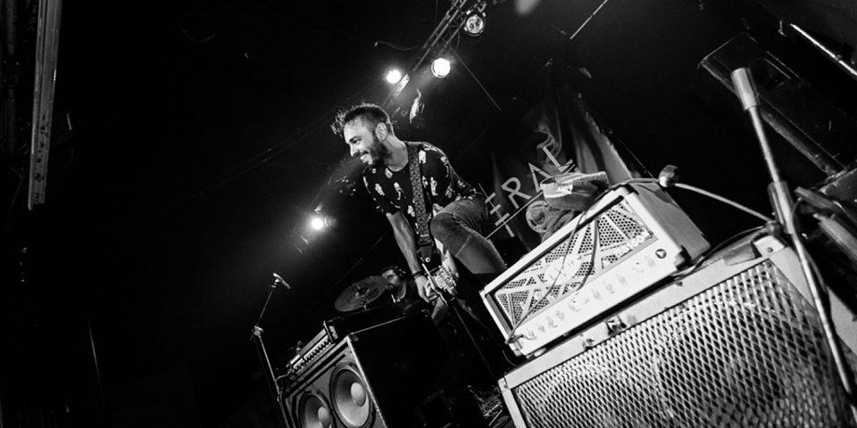 Several Union live picture release party Rising Sun at Vidia Club, Cesena, riff guitar details