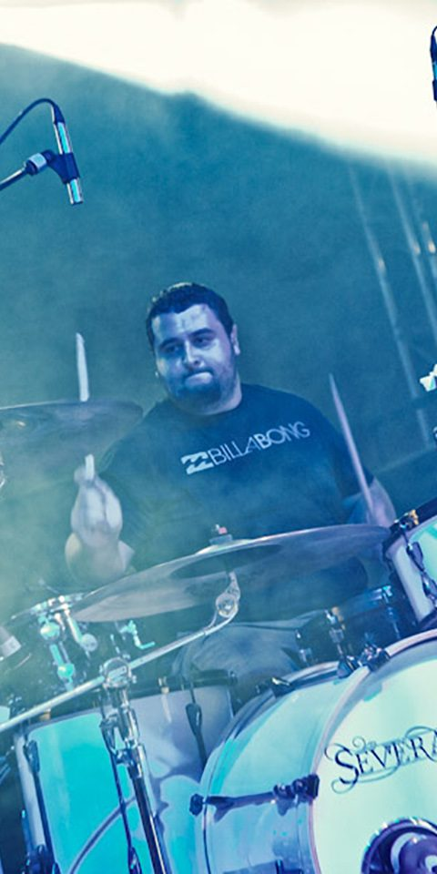 Several Union live picture in Cesena with Architects, drummer detail